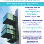Poster advertising modern architecture seminar
